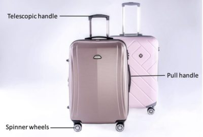 Parts of luggage bag