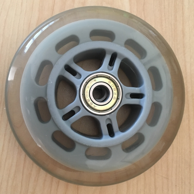Roller blade type wheels